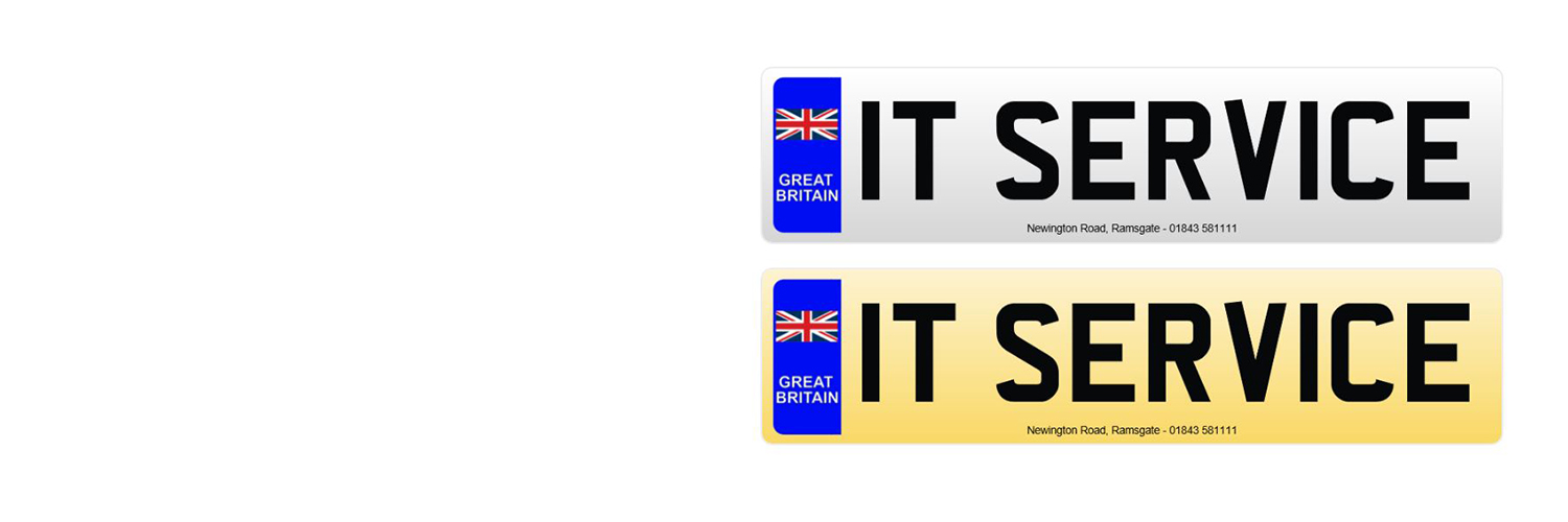Number plate printing service